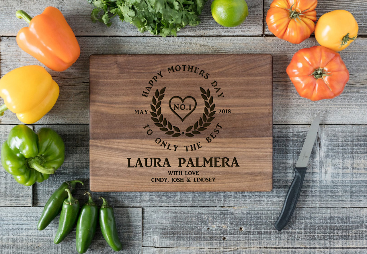 Walnut Personalized Cutting Board - Only the Best Mother's Day
