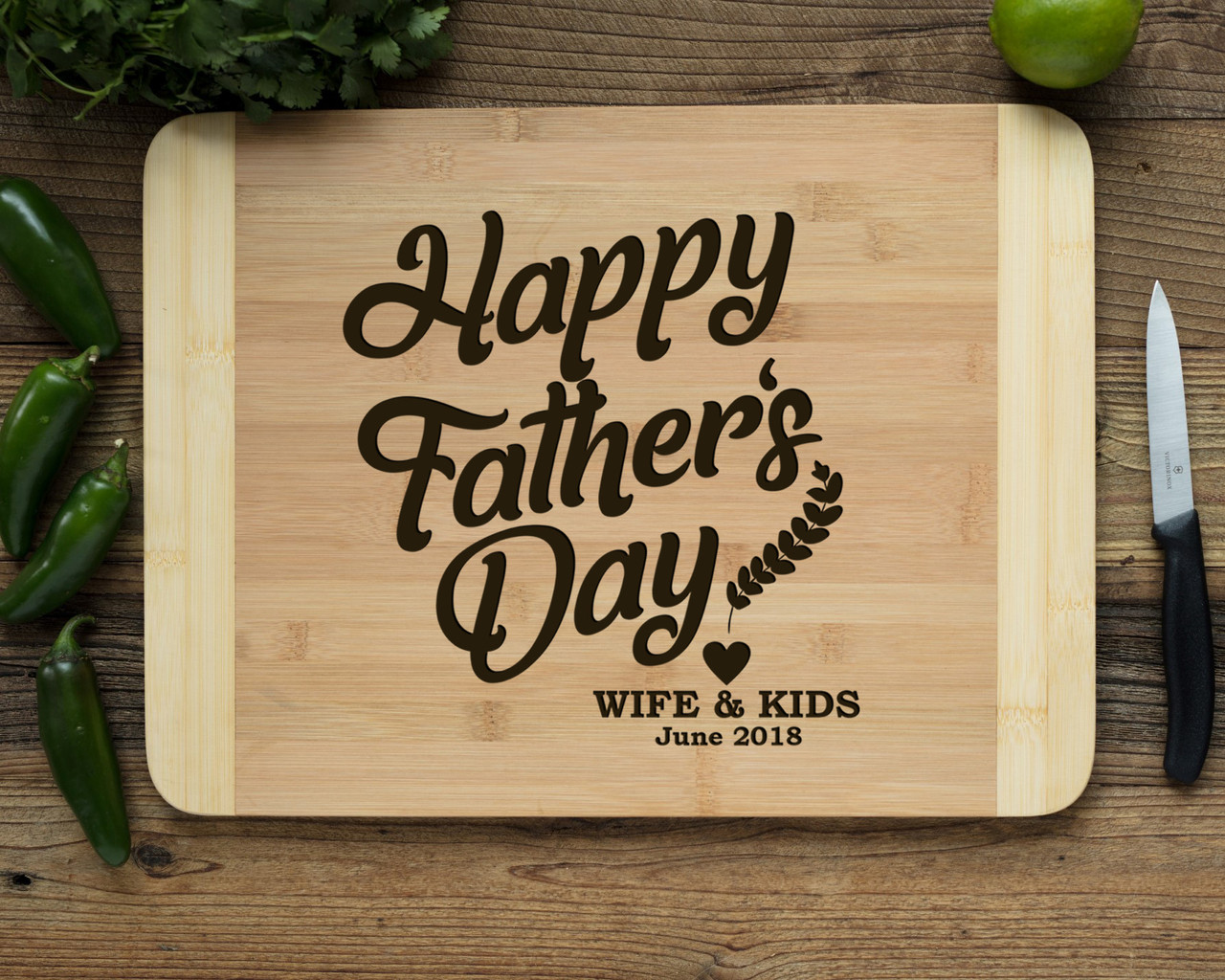 HDS Personalized Cutting Board - Happy Father's Day