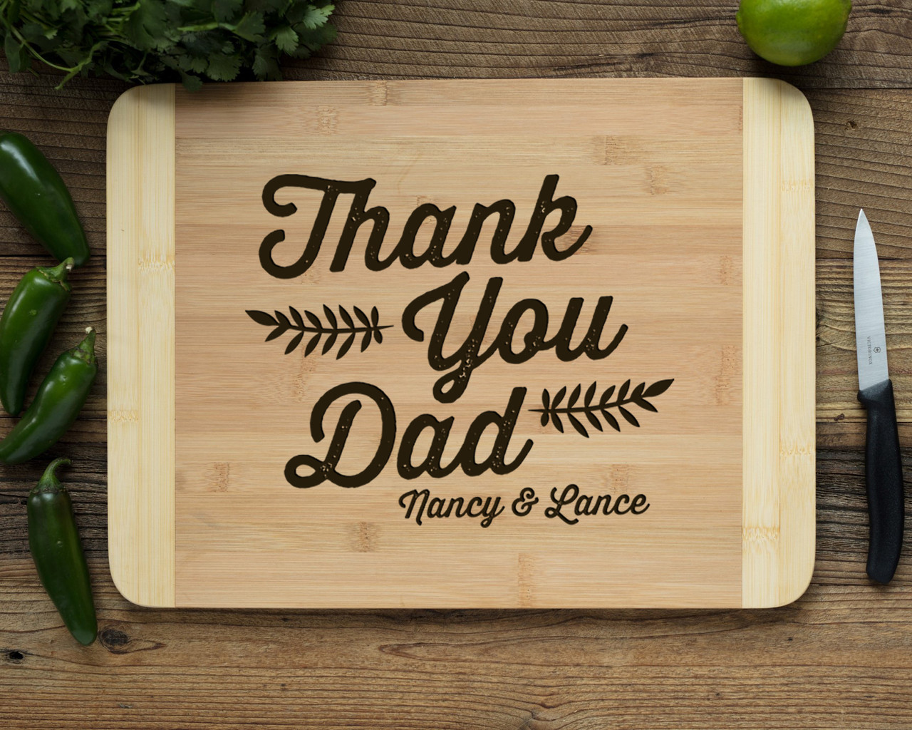 HDS Personalized Cutting Board - Thank You, Dad