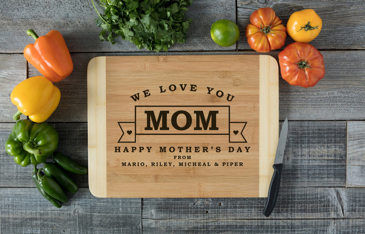 HDS Personalized Cutting Board - Mother's Day Banner