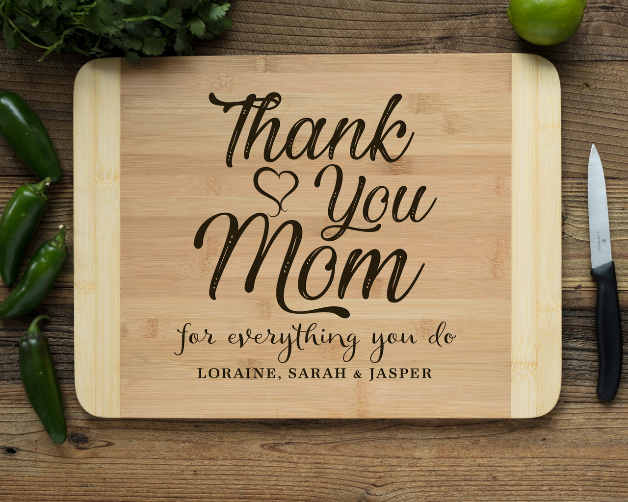 HDS Personalized Cutting Board - Thank You, Mom