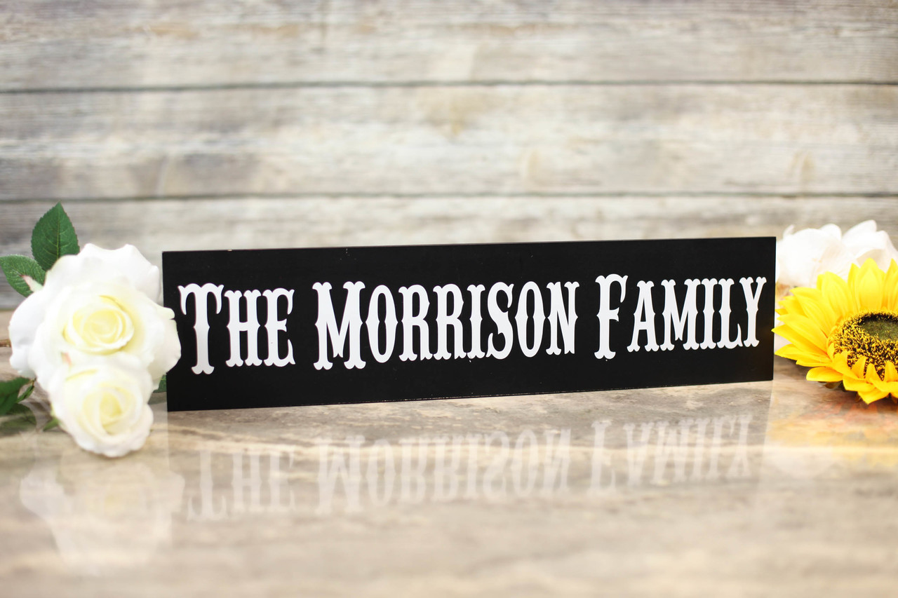 Family Sign - Western Style Family Sign
