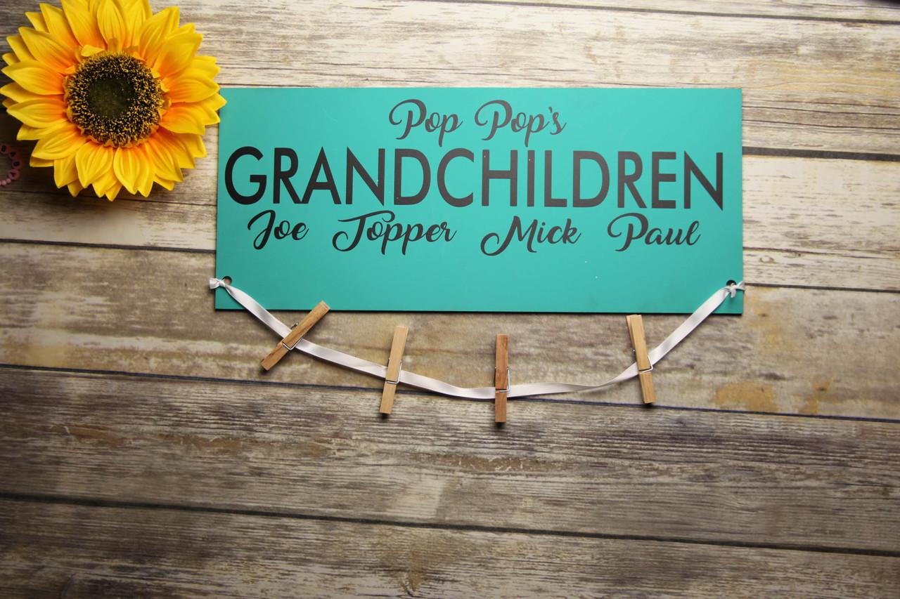 Family Sign - Grandpa's Grandchildren Sign