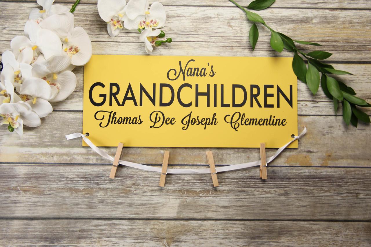 Family Sign - Nana's Grandchildren Sign