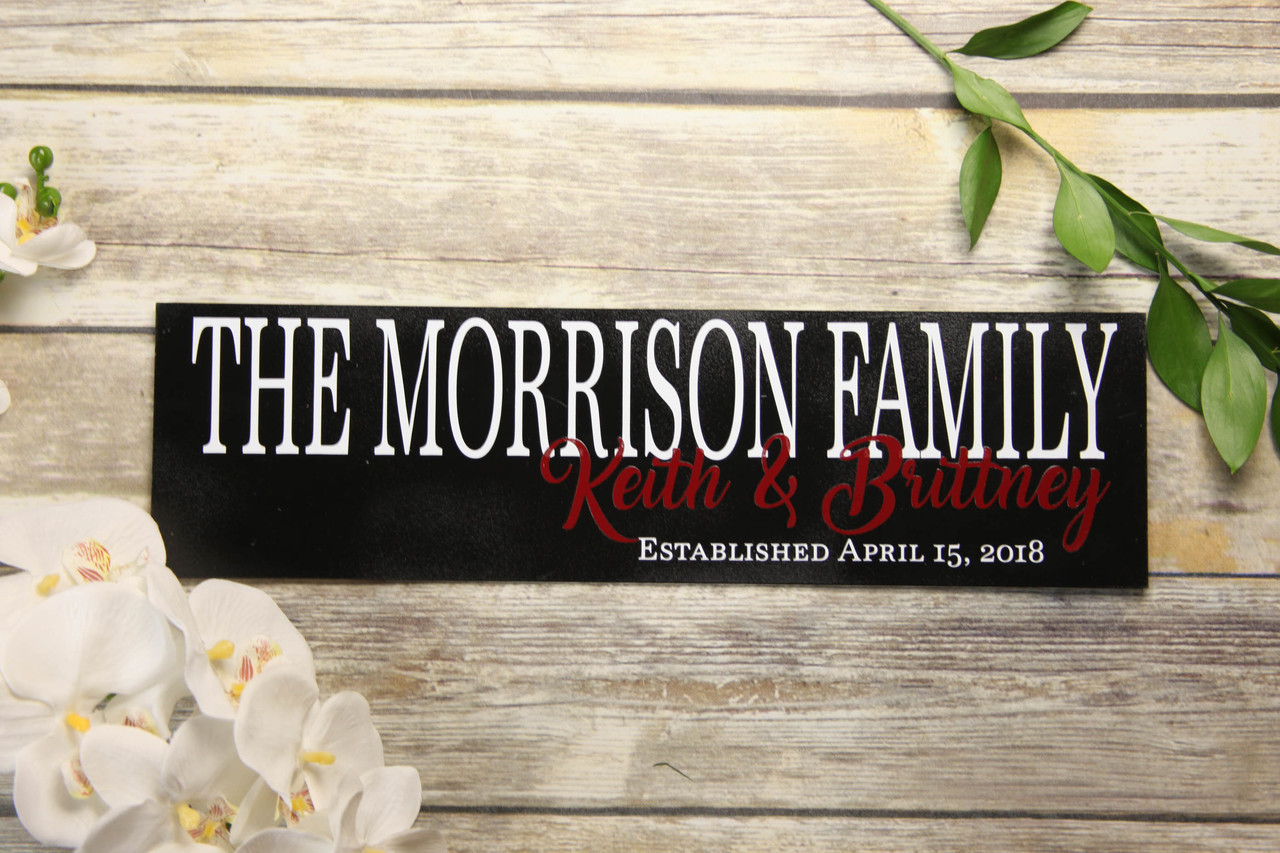 Family Sign - Two-Tone Newlywed Sign