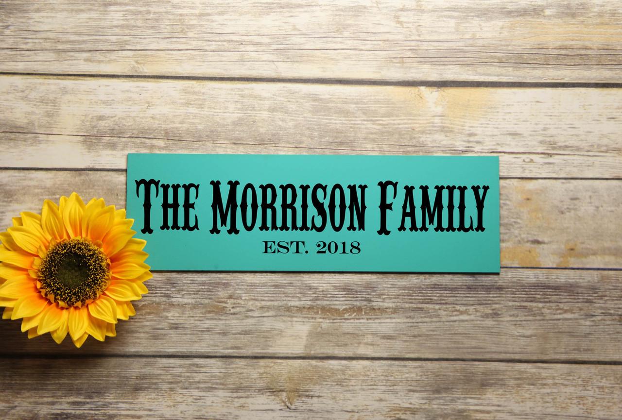 Family Sign - Family Name & Established Sign