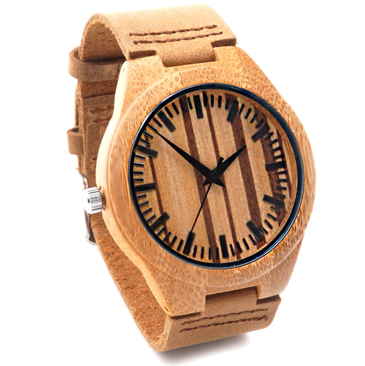 Grpn Spain - Wood Engraved Watch W#58 - PinStripe