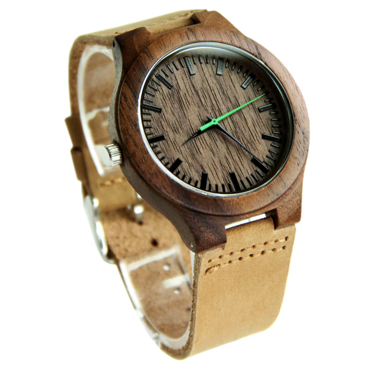 Grpn Spain - Wood Engraved Watch W#84 - Urban