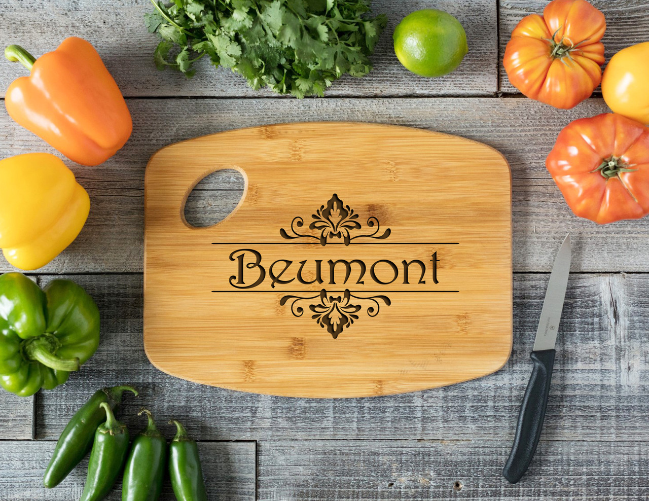 Grpn Spain Handle Floral Name Personalized Cutting Board Cabanyco