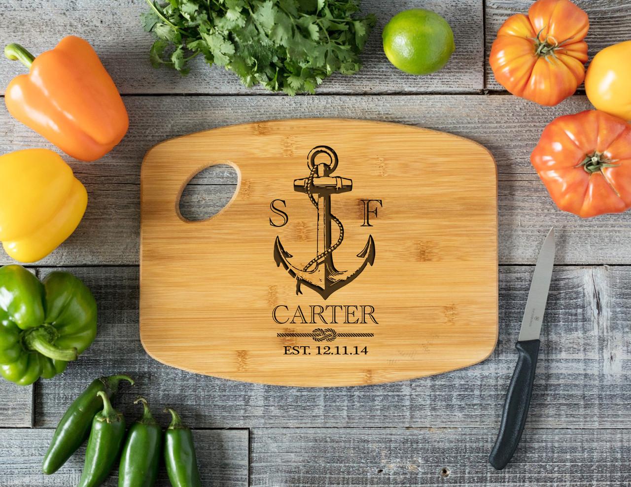 Grpn Spain - Handle Nautical Anchor Personalized Cutting Board