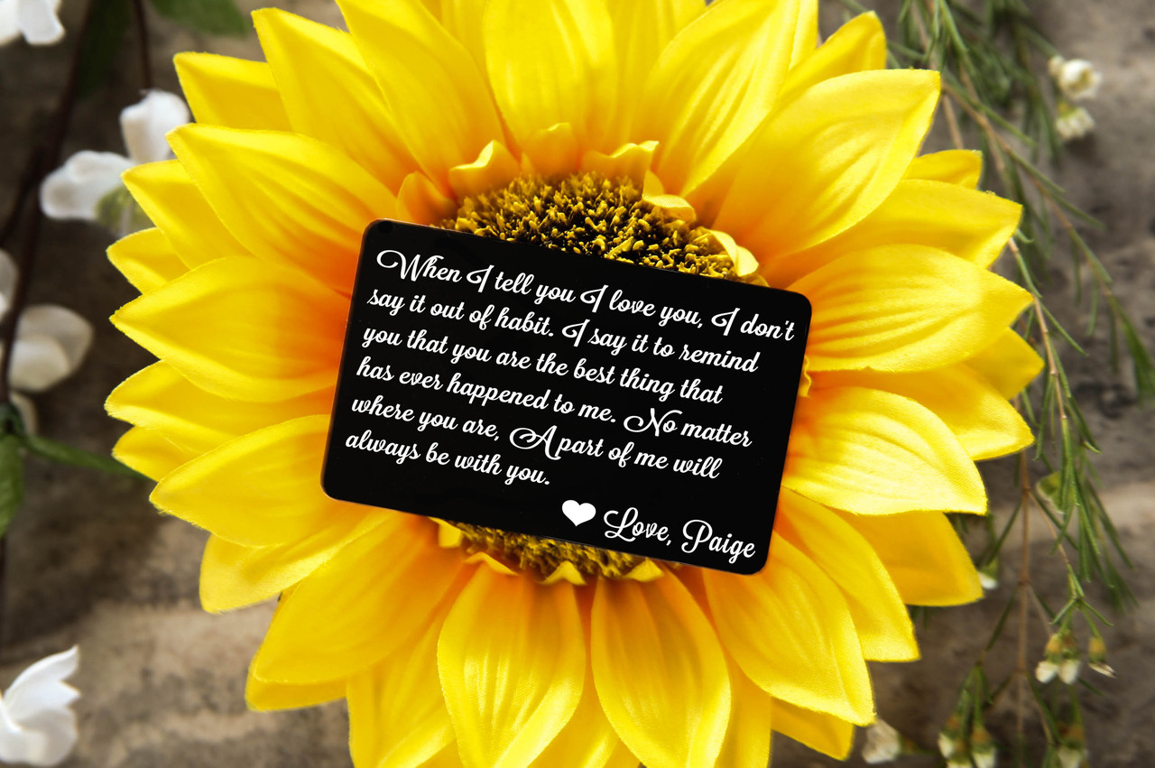 Grpn Spain - Personalized Wallet Card - When I Tell you I Love You