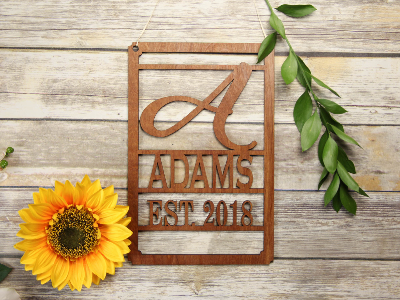Family Sign - Large Initial Personalized Sign