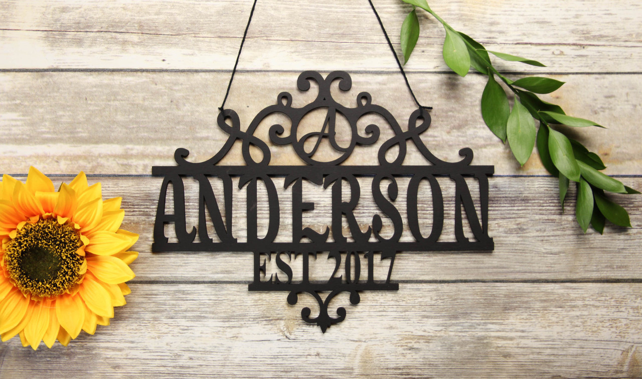 Family Sign - Vine Family Name Personalized Sign