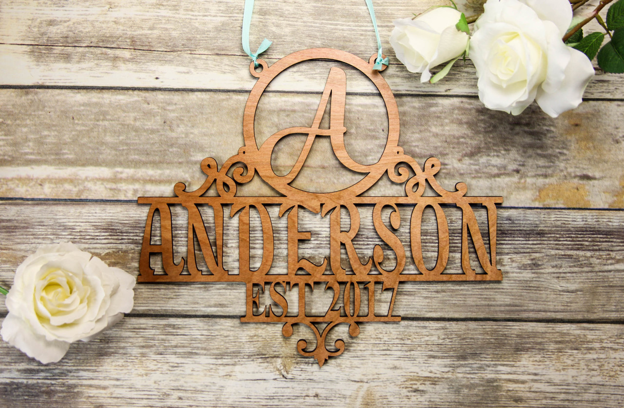 Family Sign - Initial & Name Personalized Sign