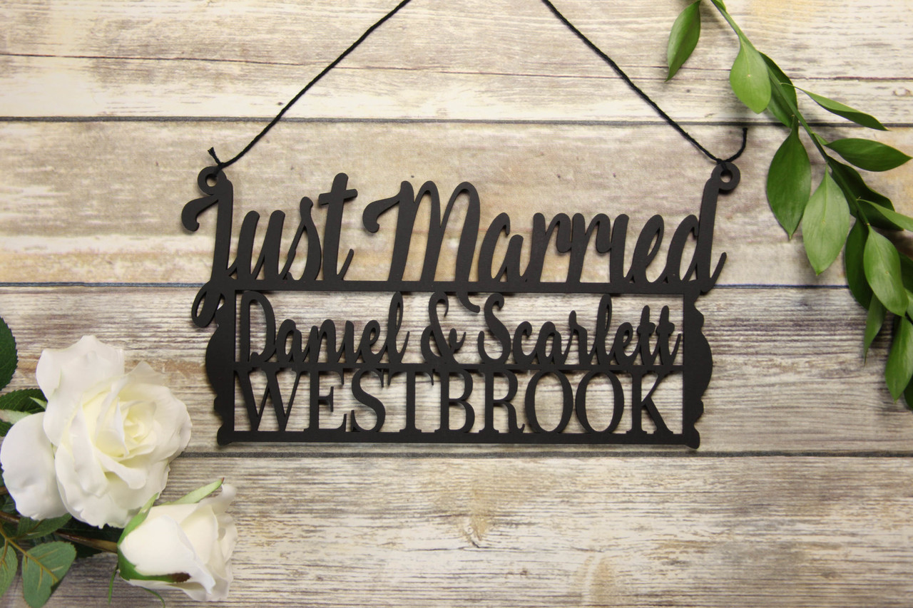 Family Sign - Just Married Personalized Sign