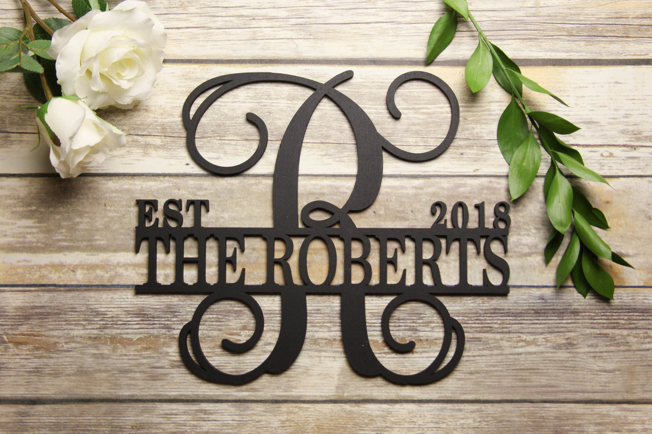 Family Sign - Bold Initial Personalized Sign