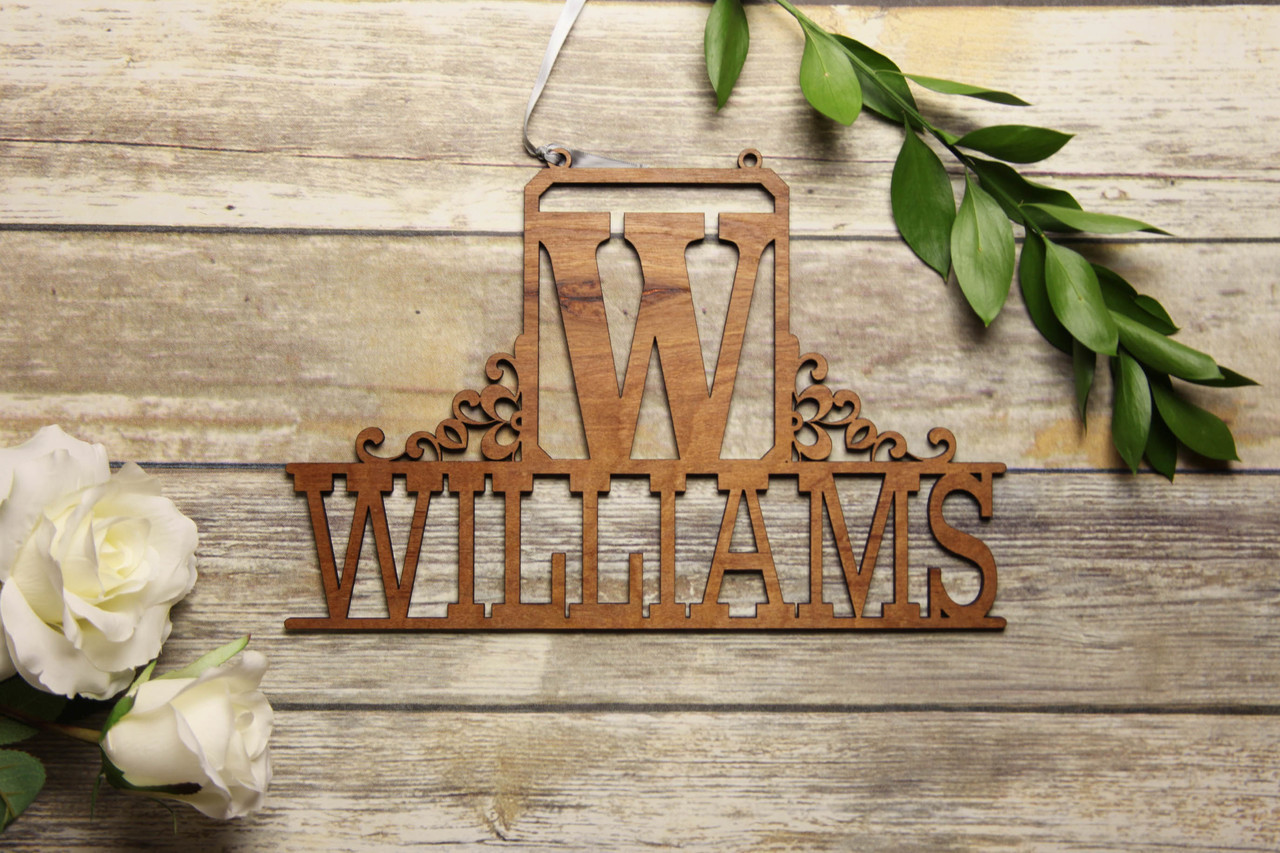 Family Sign - Block Initial Personalized Sign