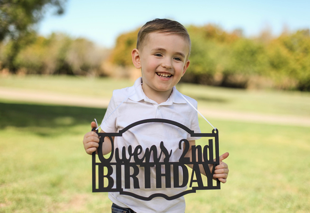 Family Sign - Birthday Personalized Sign