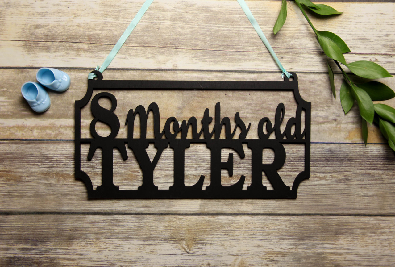 Family Sign - Baby's Age Personalized Sign