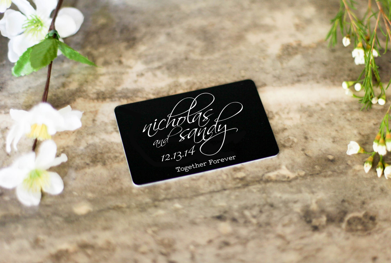 Personalized Wallet Card - Together Forever