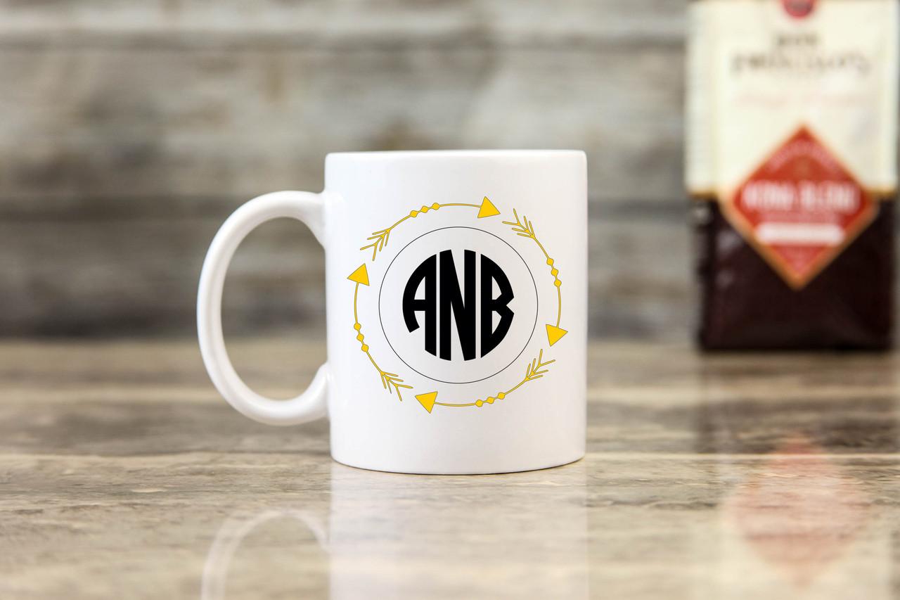 Personalized Mug - Arrow Monogram