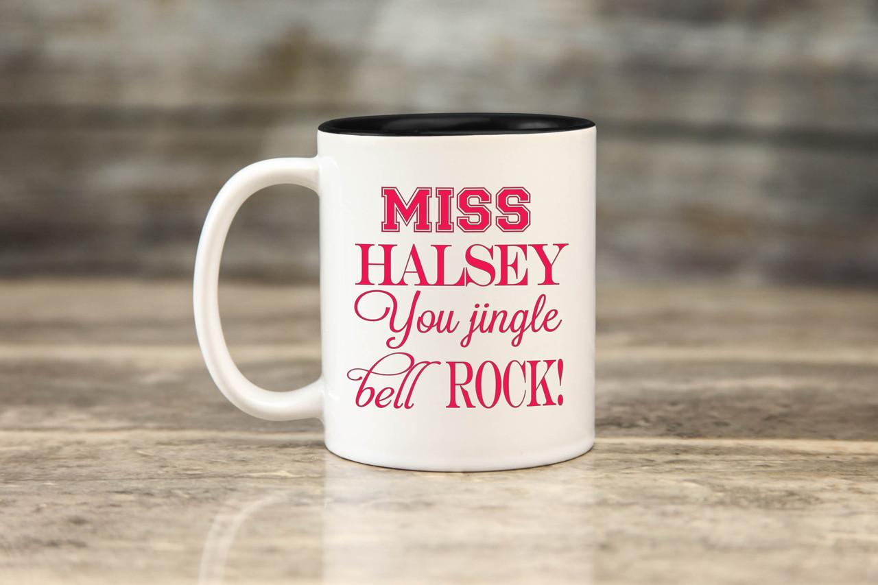 Personalized Mug - Pink Jingle Bell Rock
