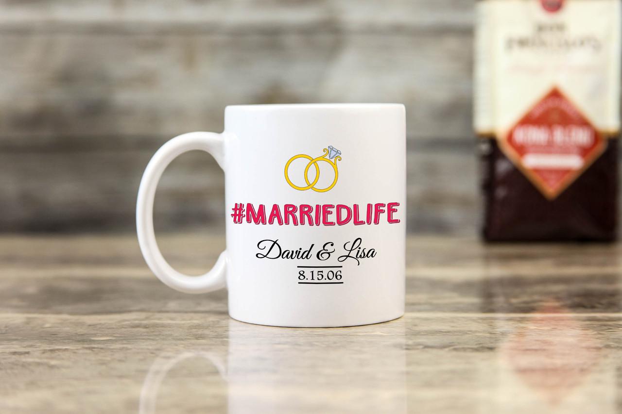 Personalized Mug - #MARRIEDLIFE
