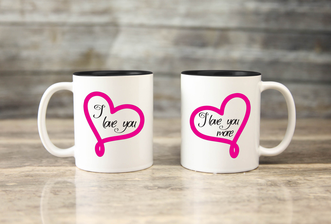 Mug Set - I Love You More