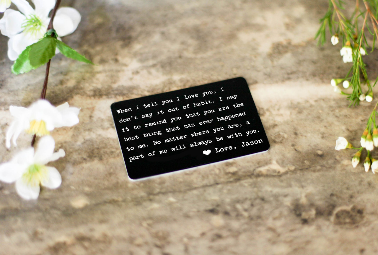Personalized Wallet Card - When I Tell You I Love You