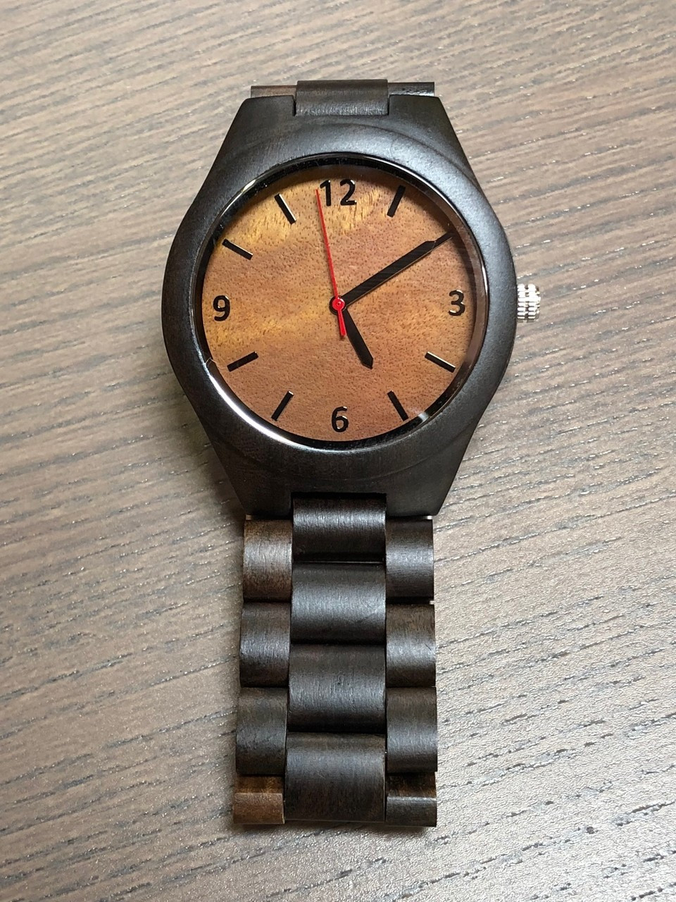 Wood Engraved Watch W#81