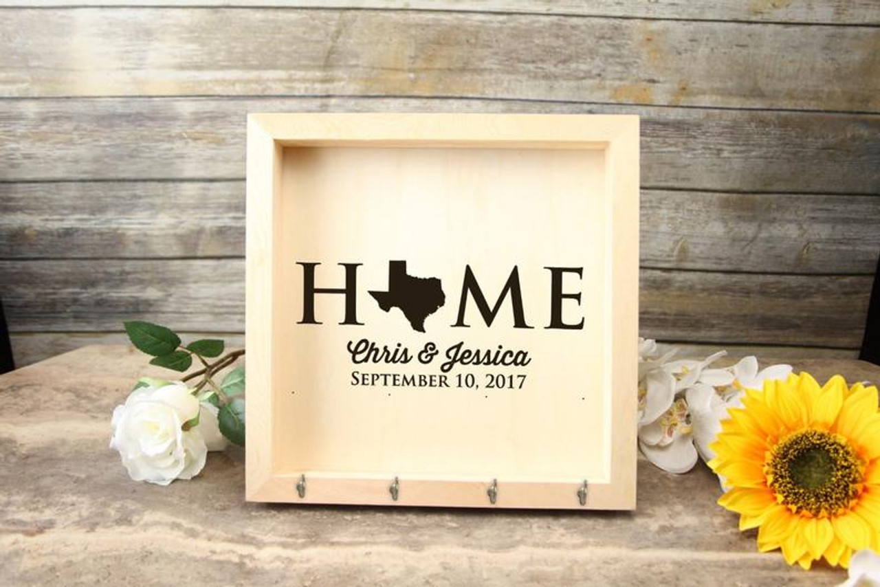 Personalized Key Holder Mail Box - Home State
