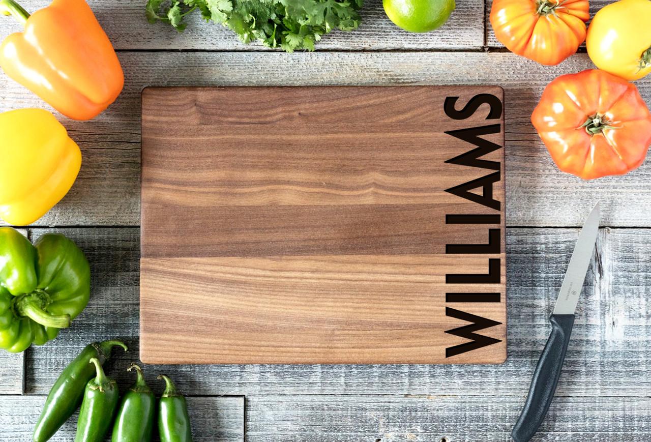 Walnut Personalized Cutting Board ~ Edge Name