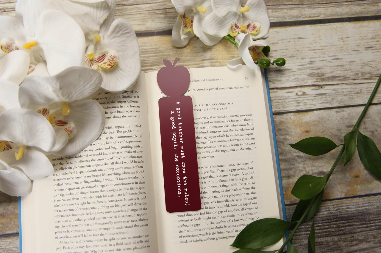 Engraved Bookmark - Apple 'Rules & Exceptions'