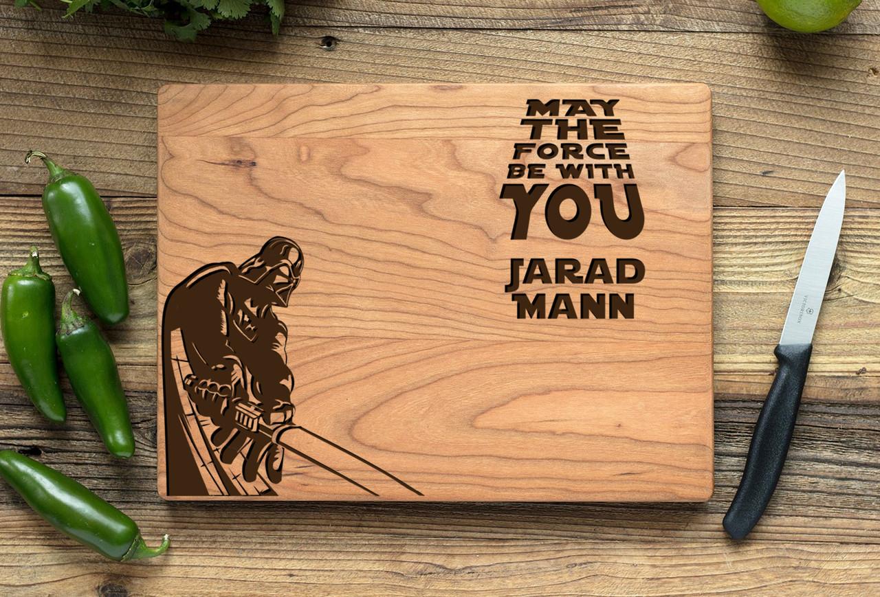 Cherry Personalized Cutting Board ~ Star Wars Darth Vader