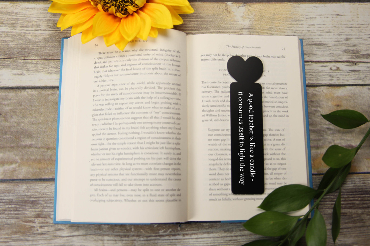 Engraved Bookmark - Heart 'Like a Candle'