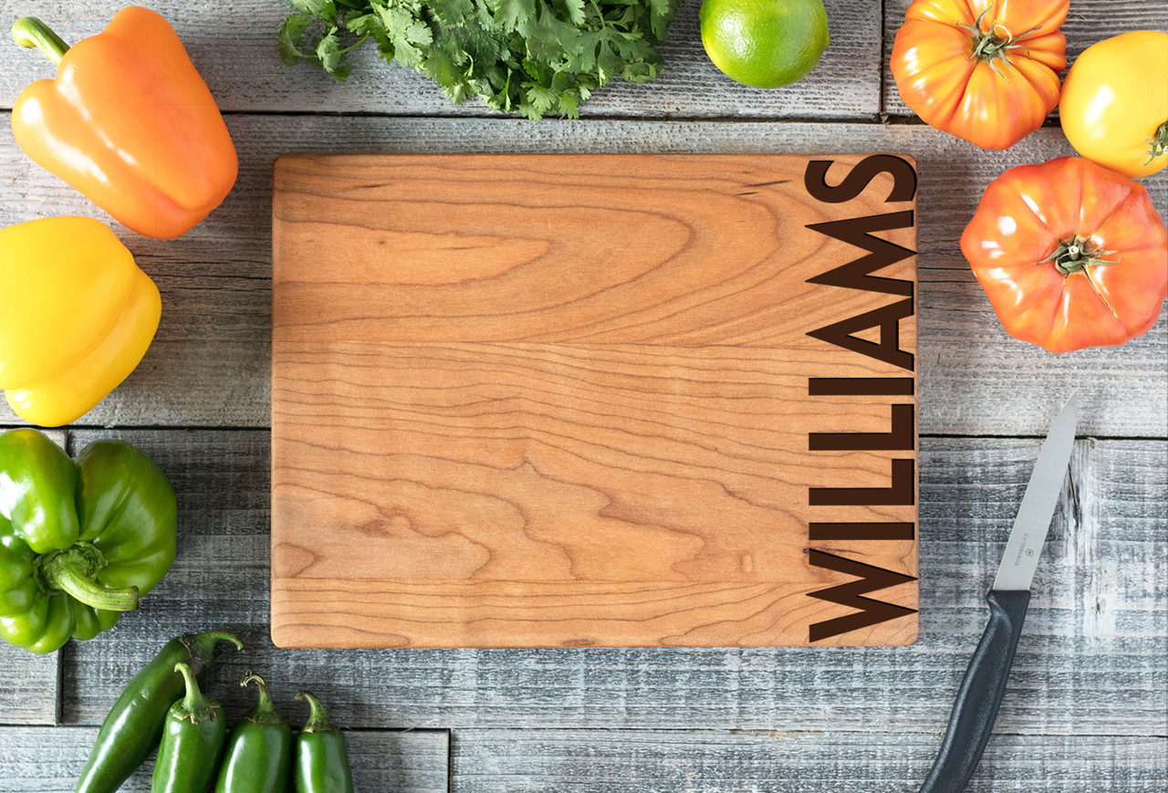 Cherry Personalized Cutting Board ~ Edge Name