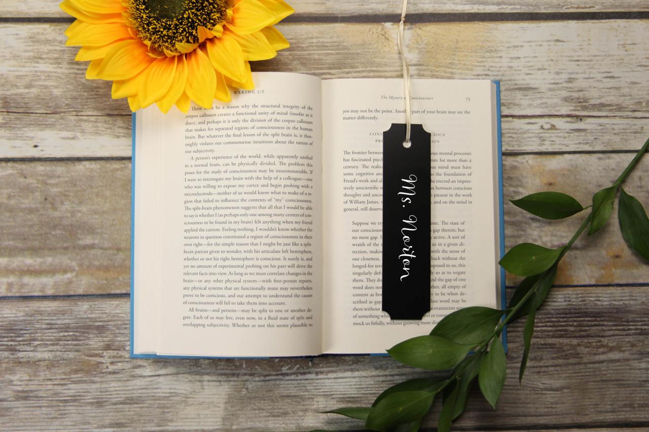 Personalized Bookmark - Bracket 'Allegretto'
