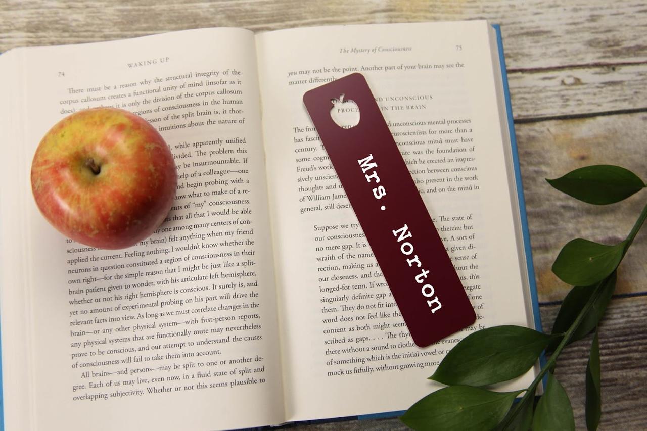 Personalized Bookmark - Mini-Apple 'Typewriter'