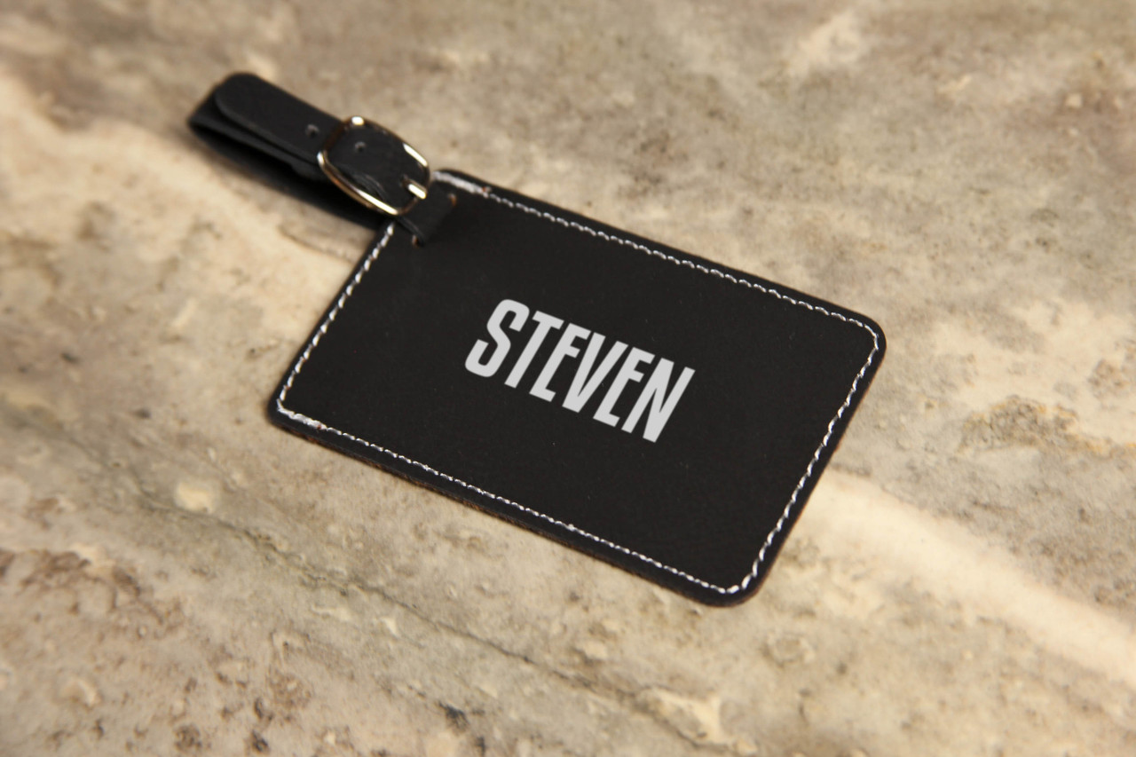 Personalized Leather Luggage Tag - First