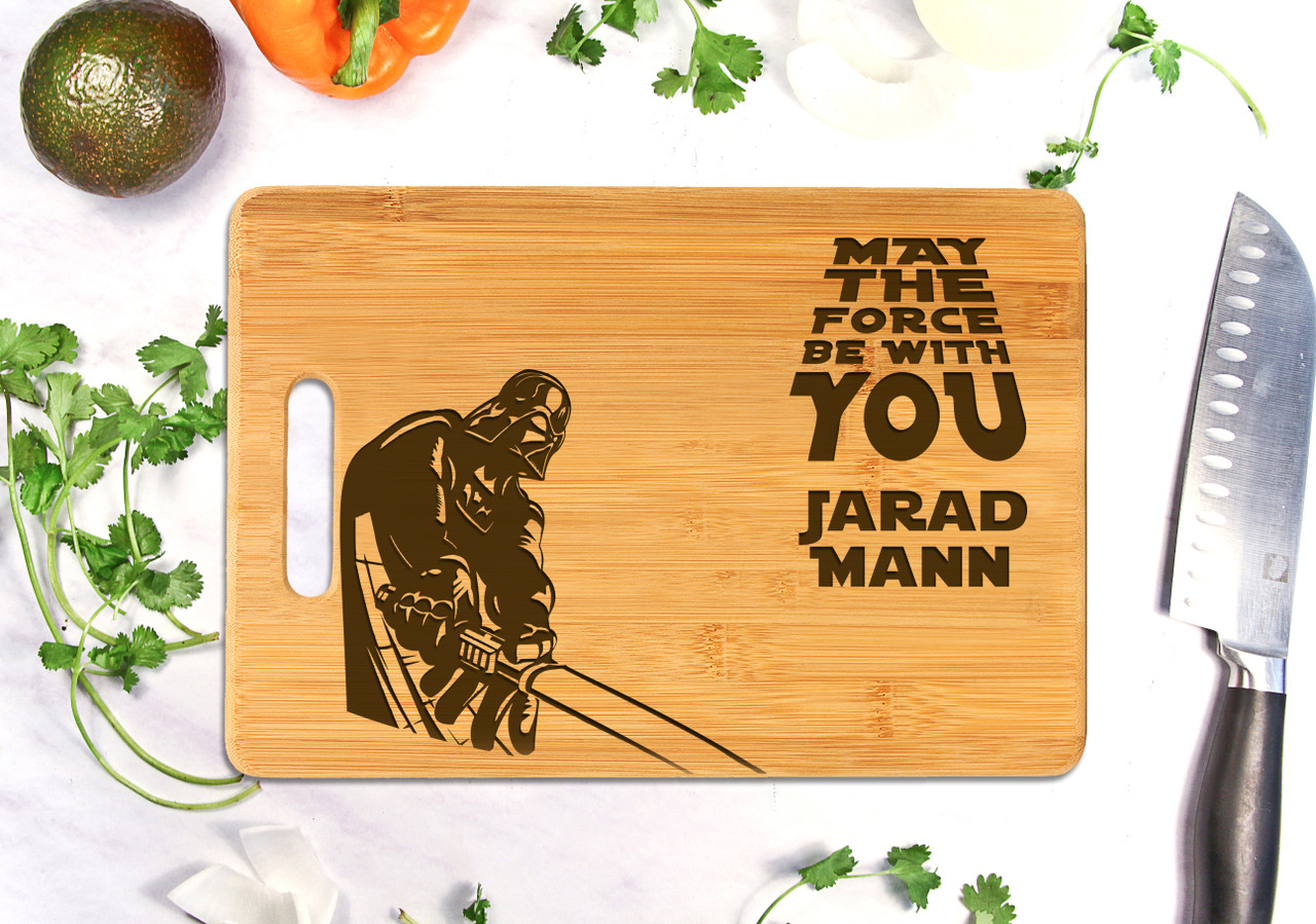 Handle Star Wars Personalized Cutting Board