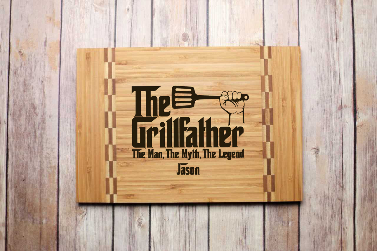 Inlay Personalized Cutting Board - Grillfather