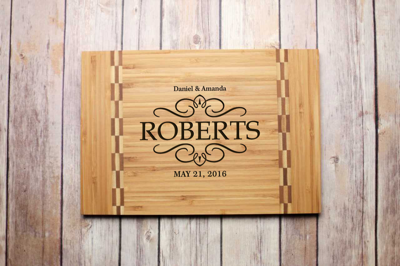 Inlay Personalized Cutting Board - Vintage