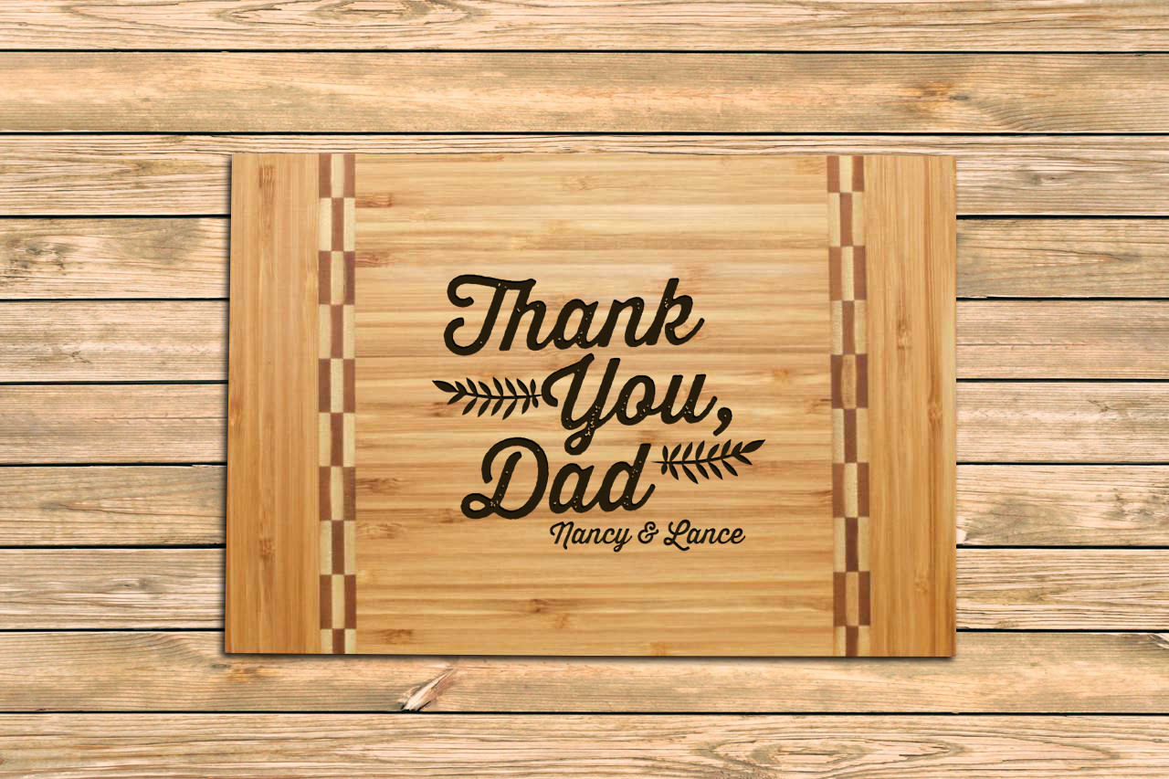 Inlay Personalized Cutting Board - Thank You, Dad