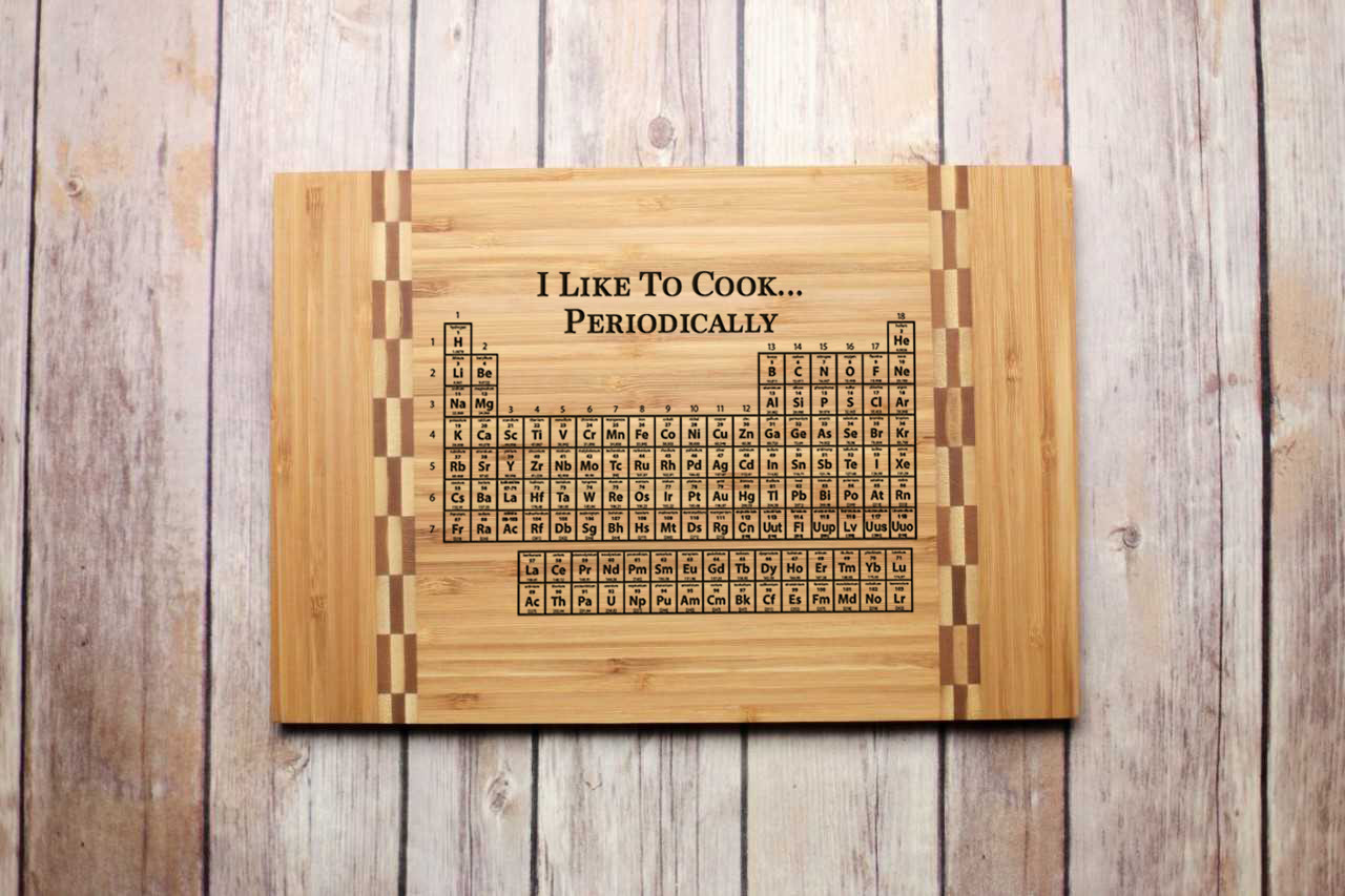 Inlay Engraved Cutting Board - Periodic Table