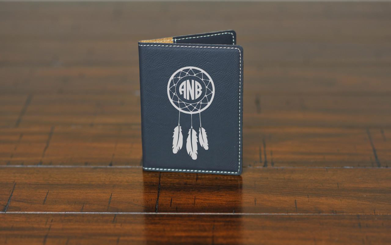 LUX  -  Leather Passport Wallet Holder - Dream catcher Monogram