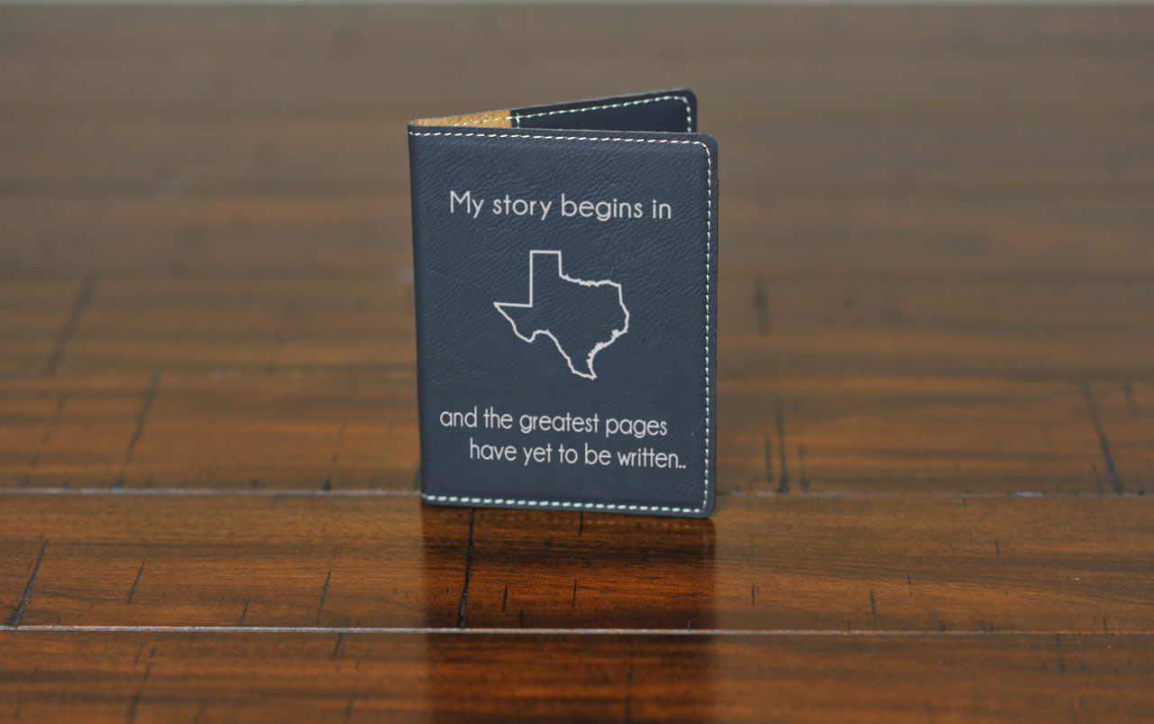 LUX  -  Leather Passport Wallet Holder - My Story Begins