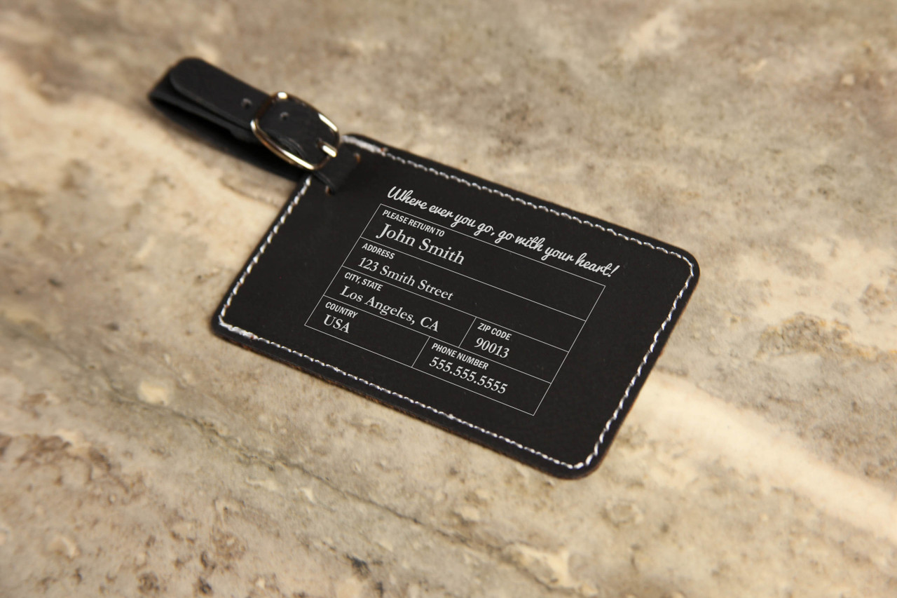 LUX - Personalized Leather Luggage Tag