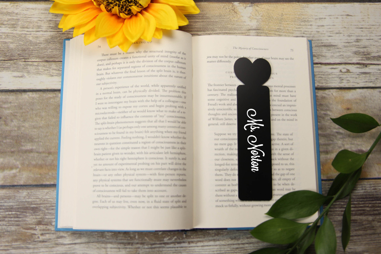 LUX - Personalized Bookmark - Heart 'Lavanderia'