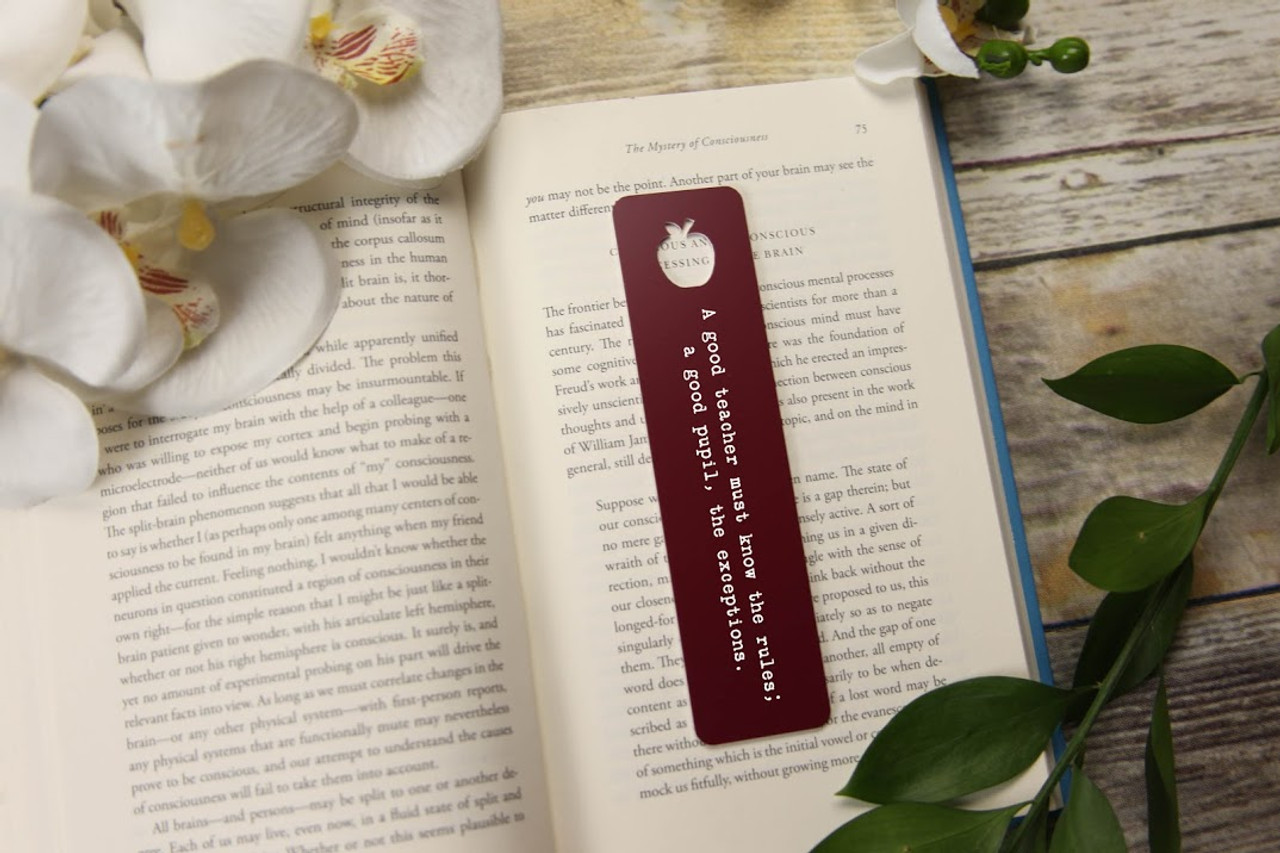 LUX - Engraved Bookmark - Mini-Apple 'Rules & Exceptions'