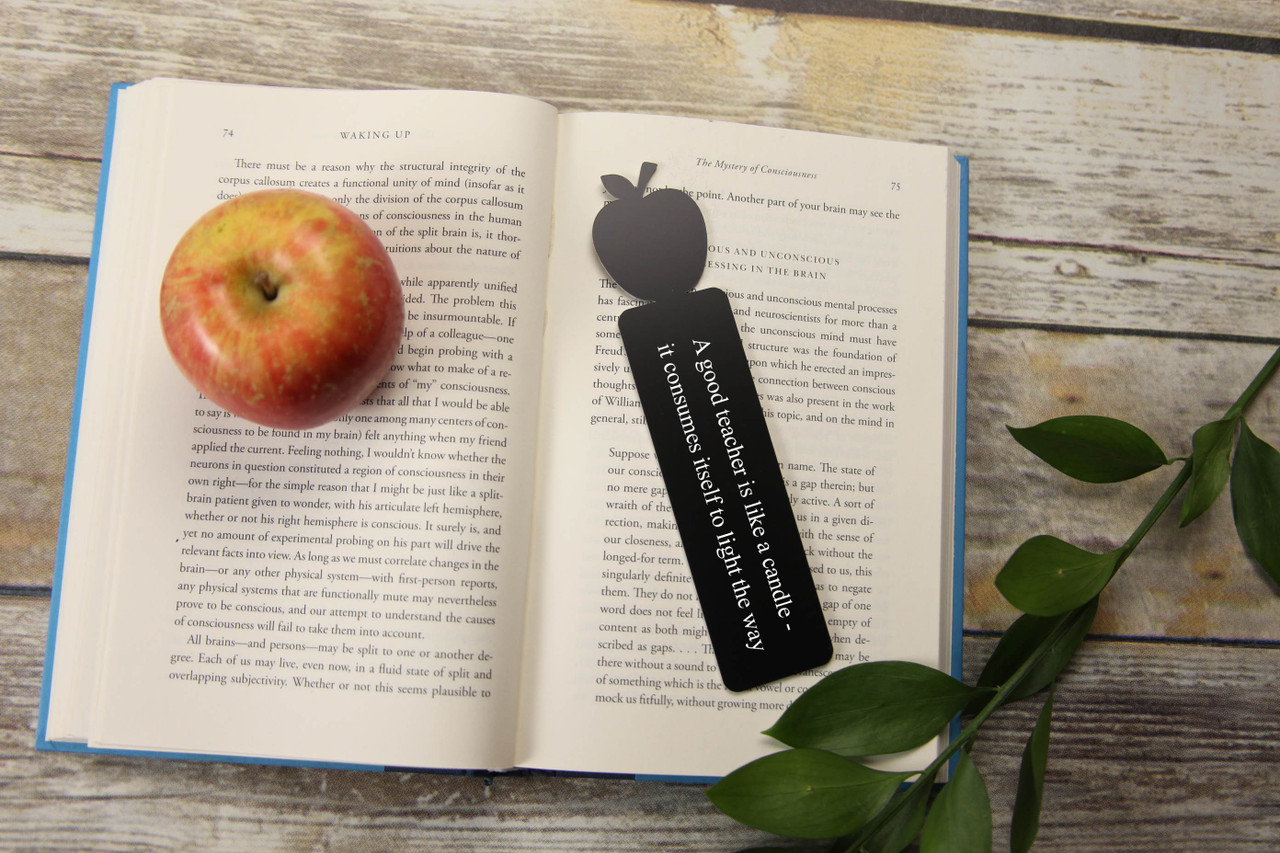 LUX - Engraved Bookmark - Apple 'Like a Candle'